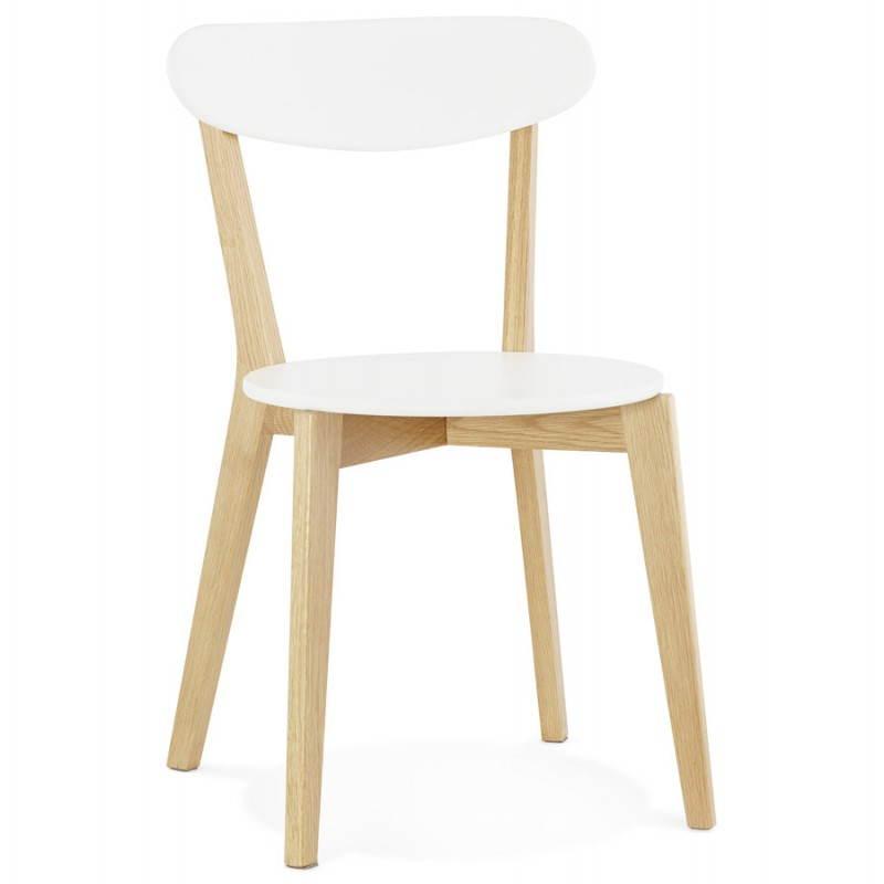 Diseño silla estilo madera ANTICUADOS escandinavo (blanco)