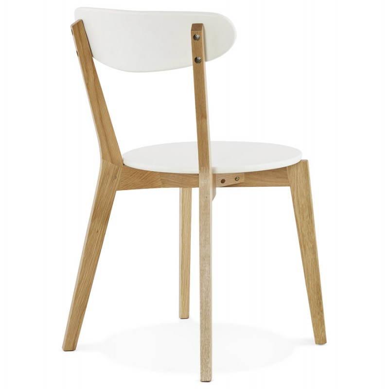 Chaise design style scandinave SCANDI en bois (blanc) - image 25501