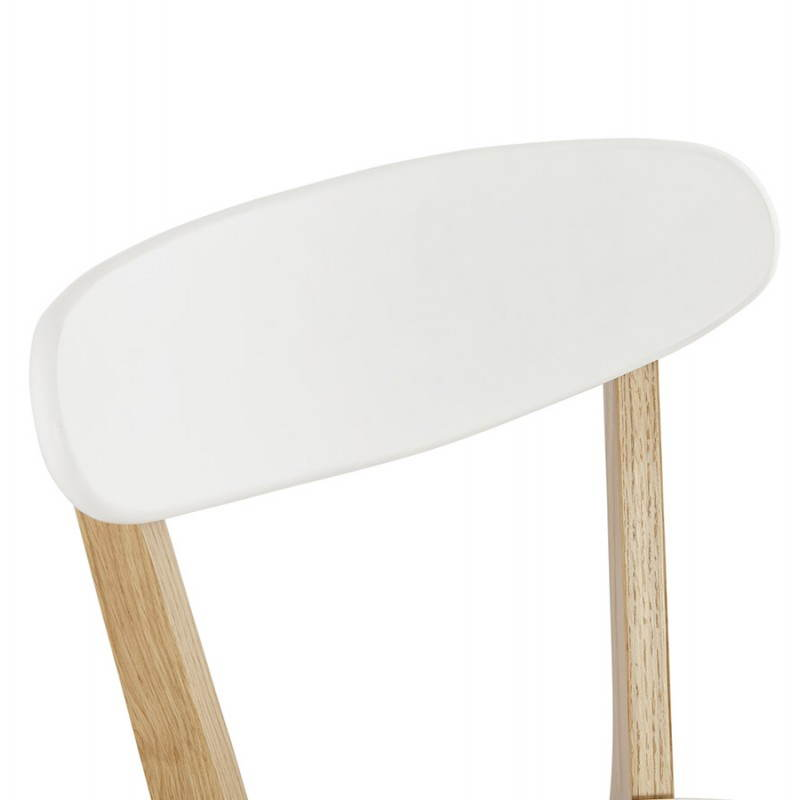 Chaise design style scandinave SCANDI en bois (blanc) - image 25504