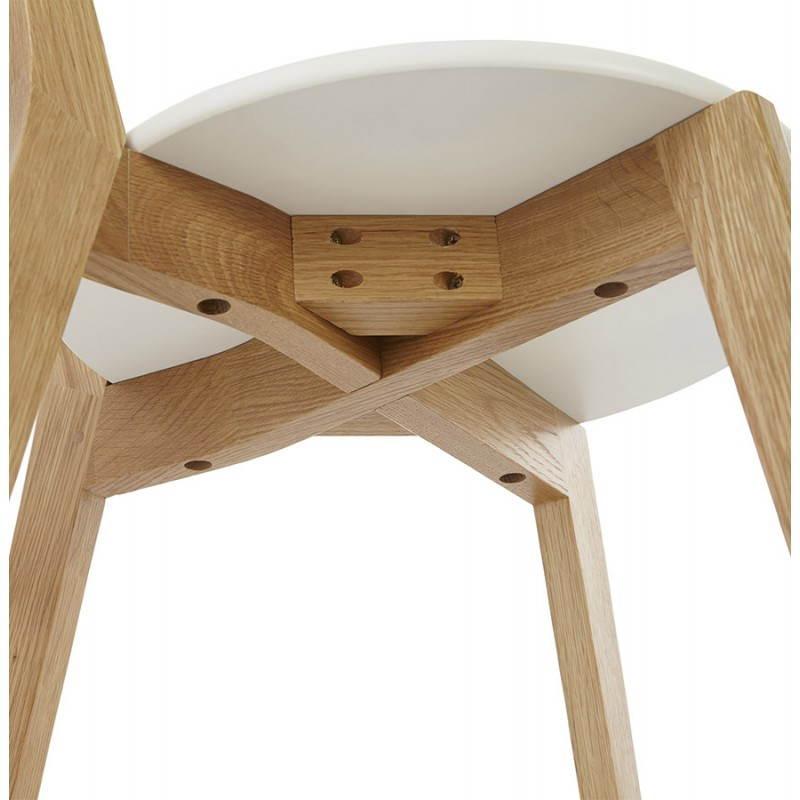 Chaise design style scandinave SCANDI en bois (blanc) - image 25508