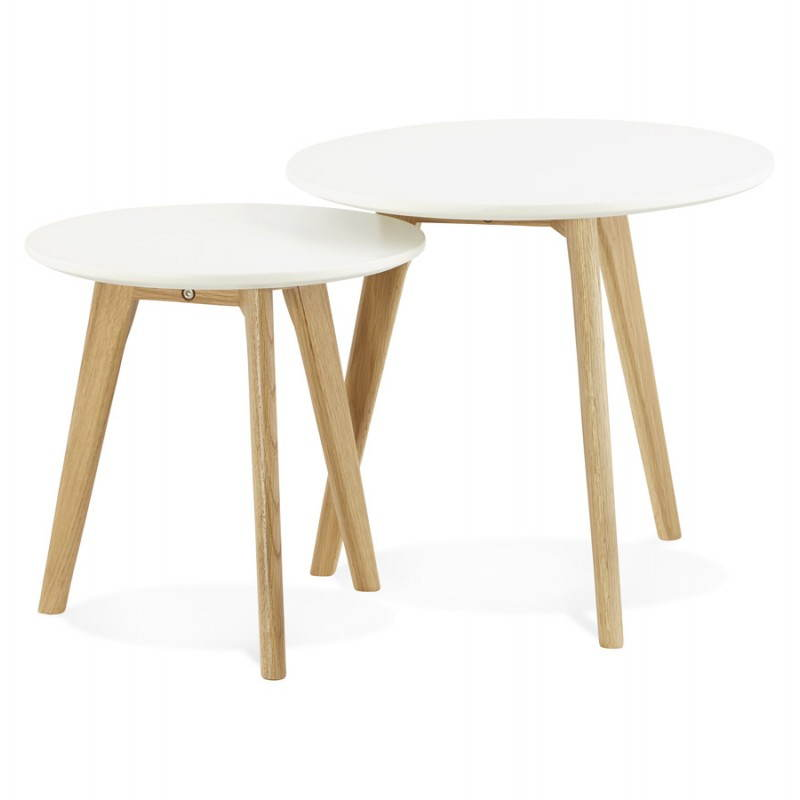Tables basses design gigognes art en bois et ch ne massif for Tables gigognes en bois