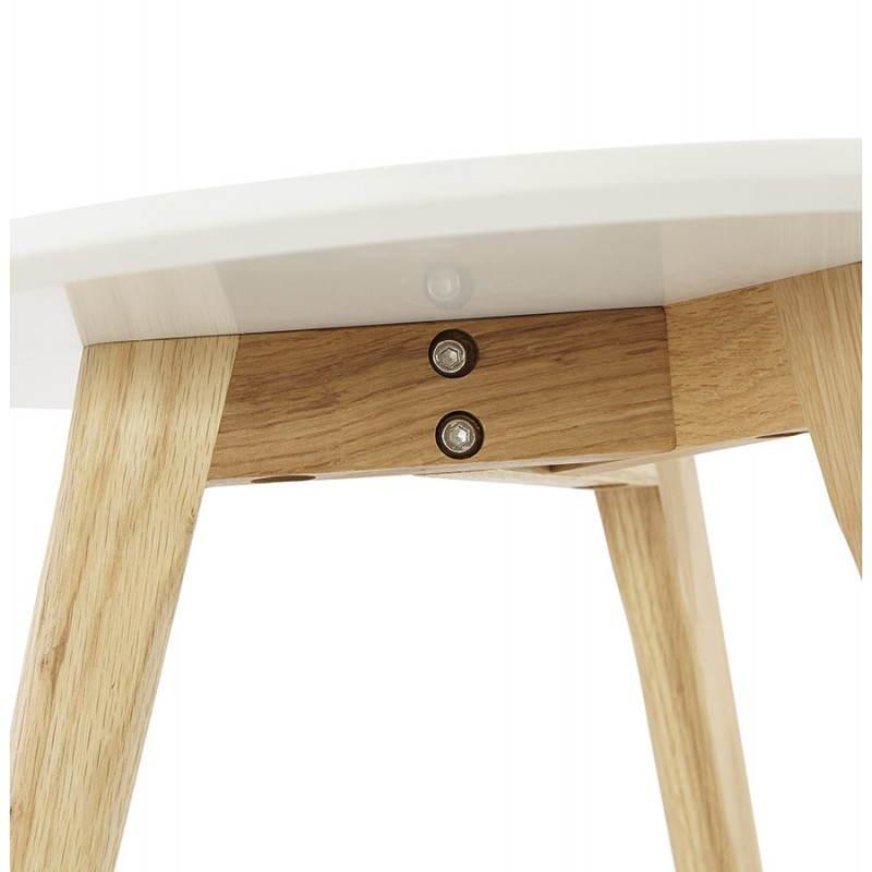 Tables basses design gigognes ART en bois et chêne massif (blanc) - image 25531
