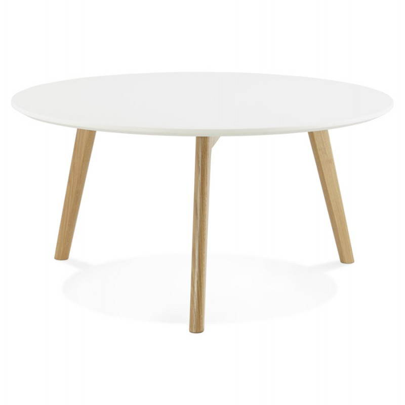 Table basse scandinave TAROT en bois et chêne massif (blanc) - image 25553