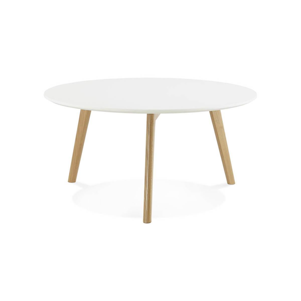 Tarot Scandinavian Coffee Table In Wood And Oak White