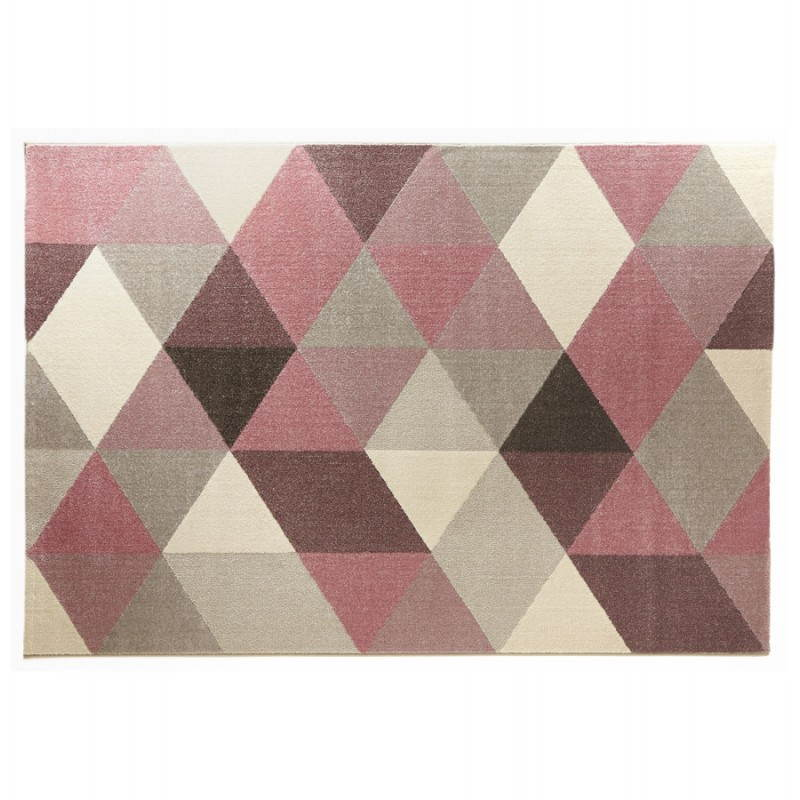 Tapis design style scandinave rectangulaire geo 230cm x for Tapis de salon gris et beige