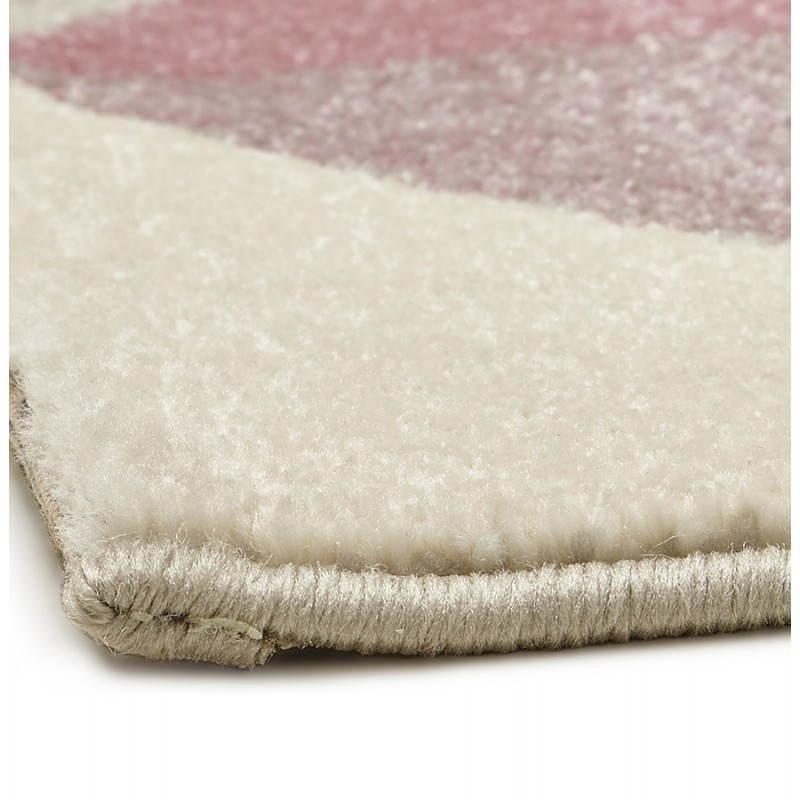 tapis design style scandinave rectangulaire geo 230cm x 160cm rose gris beige. Black Bedroom Furniture Sets. Home Design Ideas