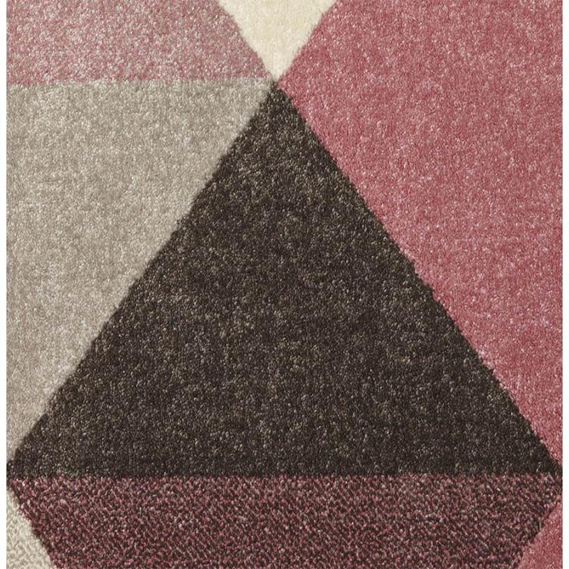 Tapis design style scandinave rectangulaire GEO (230cm X 160cm) (rose, gris, beige) - image 25568
