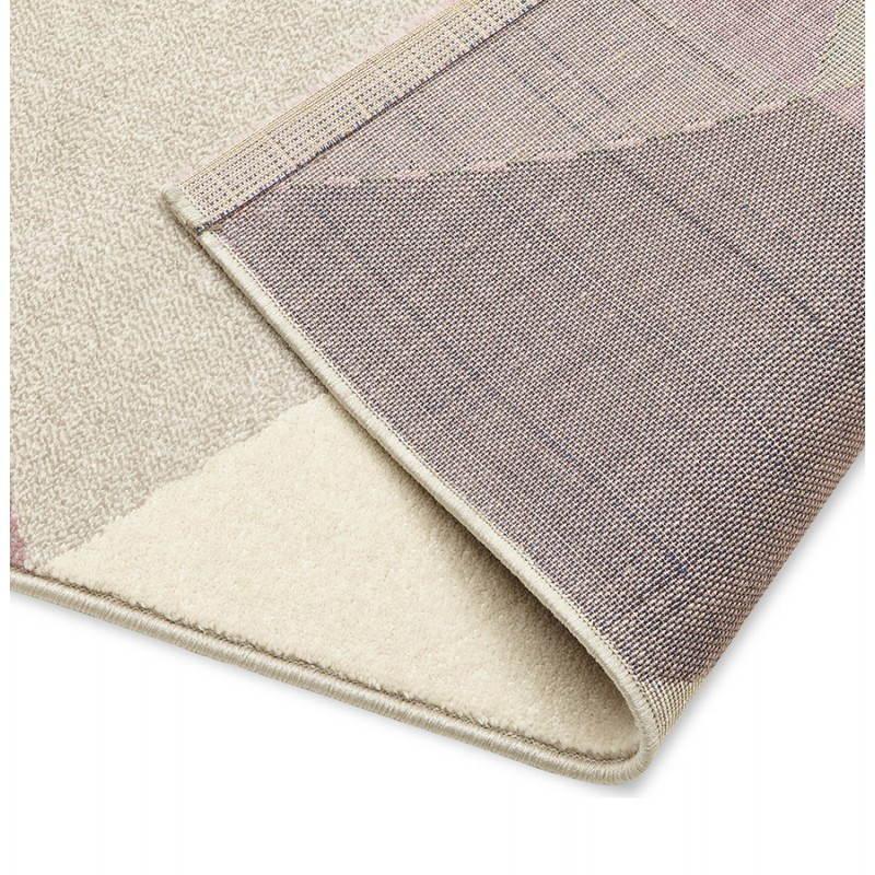 Tapis design style scandinave rectangulaire GEO (230cm X 160cm) (rose, gris, beige) - image 25570