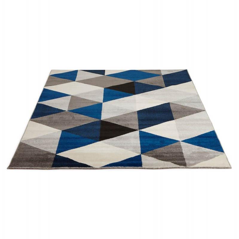 Tapis design style scandinave rectangulaire GEO (230cm X 160cm) (gris, bleu, beige) - image 25574