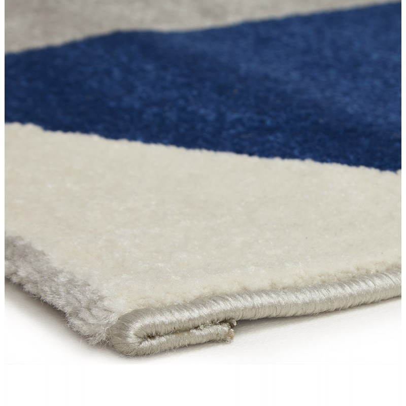Tapis design style scandinave rectangulaire geo 230cm x 160cm gris bleu beige - Tapis bleu scandinave ...