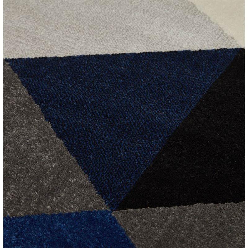 Tapis design style scandinave rectangulaire GEO (230cm X 160cm) (gris, bleu, beige) - image 25576