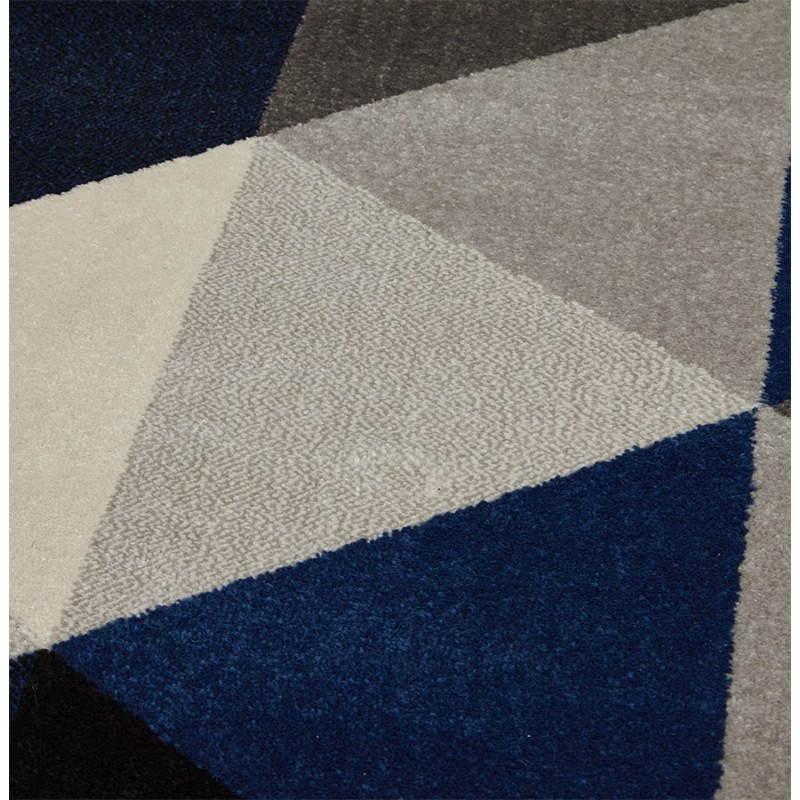 Tapis design style scandinave rectangulaire GEO (230cm X 160cm) (gris, bleu, beige) - image 25577