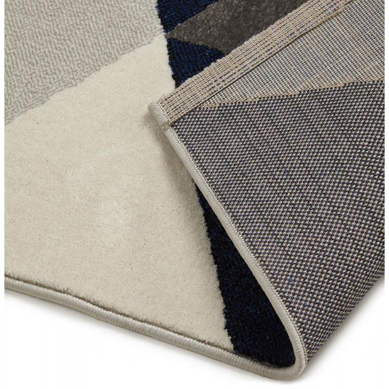 Tapis design style scandinave rectangulaire GEO (230cm X 160cm) (gris, bleu, beige) - image 25578