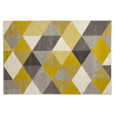 Teppich design rechteckig skandinavischen Stil GEO (230cm X 160cm) (gelb, grau, Beige)
