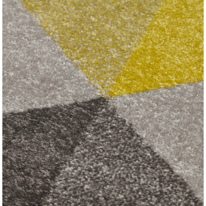 tapis design style scandinave rectangulaire geo 230cm x 160cm jaune gris beige. Black Bedroom Furniture Sets. Home Design Ideas
