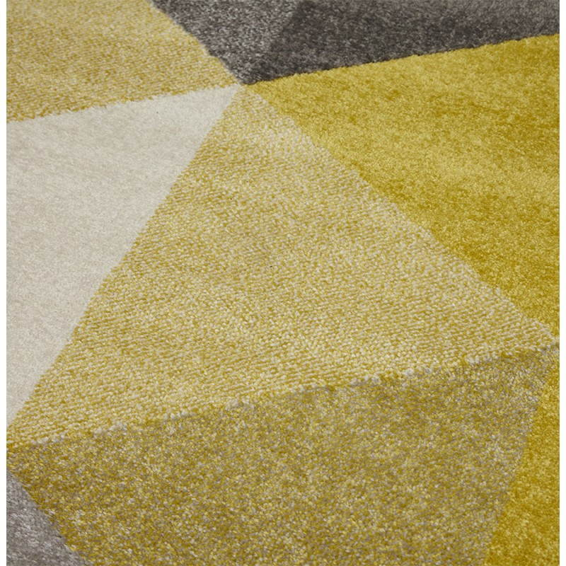 Carpet design rectangular Scandinavian style GEO (230cm X 160cm) (yellow, grey, beige) - image 25591