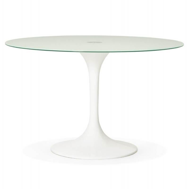 Design Esstisch Runde MANGO (weiß) temperiert Gläser (Ø 120 cm) - image 25722