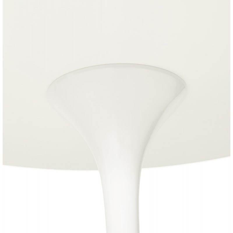 Design Esstisch Runde MANGO (weiß) temperiert Gläser (Ø 120 cm) - image 25726