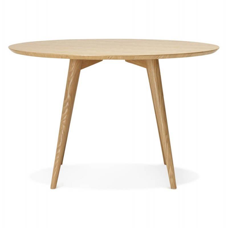 Table à manger style scandinave ronde PONY en bois (Ø 120 cm) (naturel) - image 25743