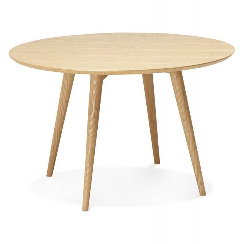 Table manger style scandinave ronde pony en bois 120 - Table a manger style scandinave ...