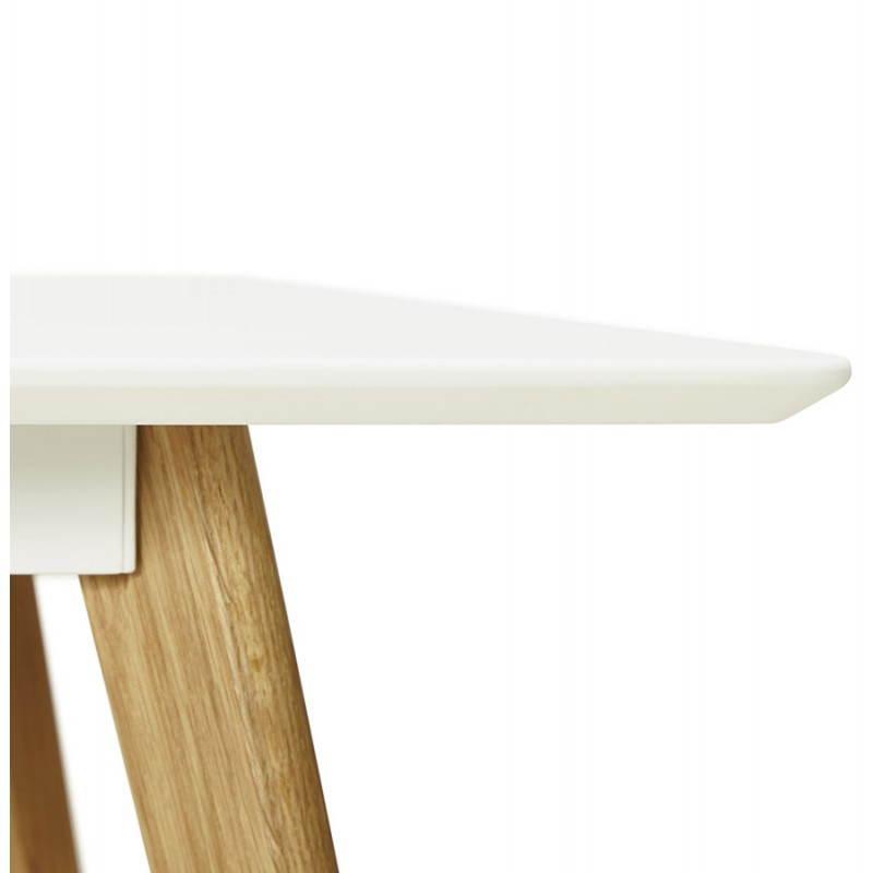 Table à manger style scandinave rectangulaire ORGE en bois (160cmX90cmX75cm) (blanc) - image 25757