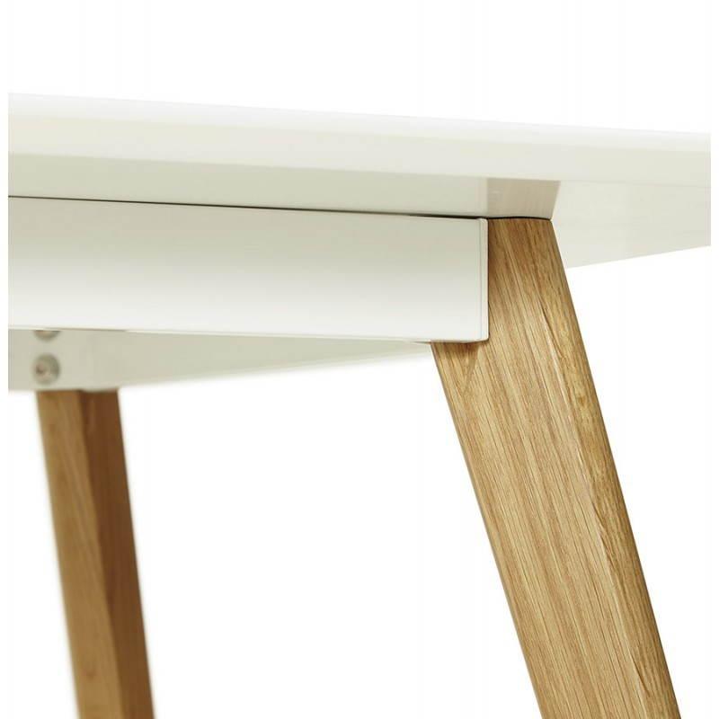 Table à manger style scandinave rectangulaire ORGE en bois (160cmX90cmX75cm) (blanc) - image 25758