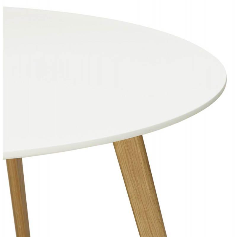 Table à manger style scandinave ronde MILLET en bois (Ø 120 cm) (blanc) - image 25767