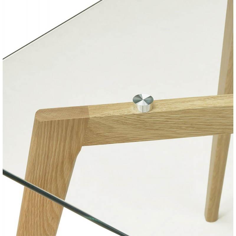 Table à manger style scandinave rectangulaire VARIN en verre (120cmX80cmX75cm) - image 25780