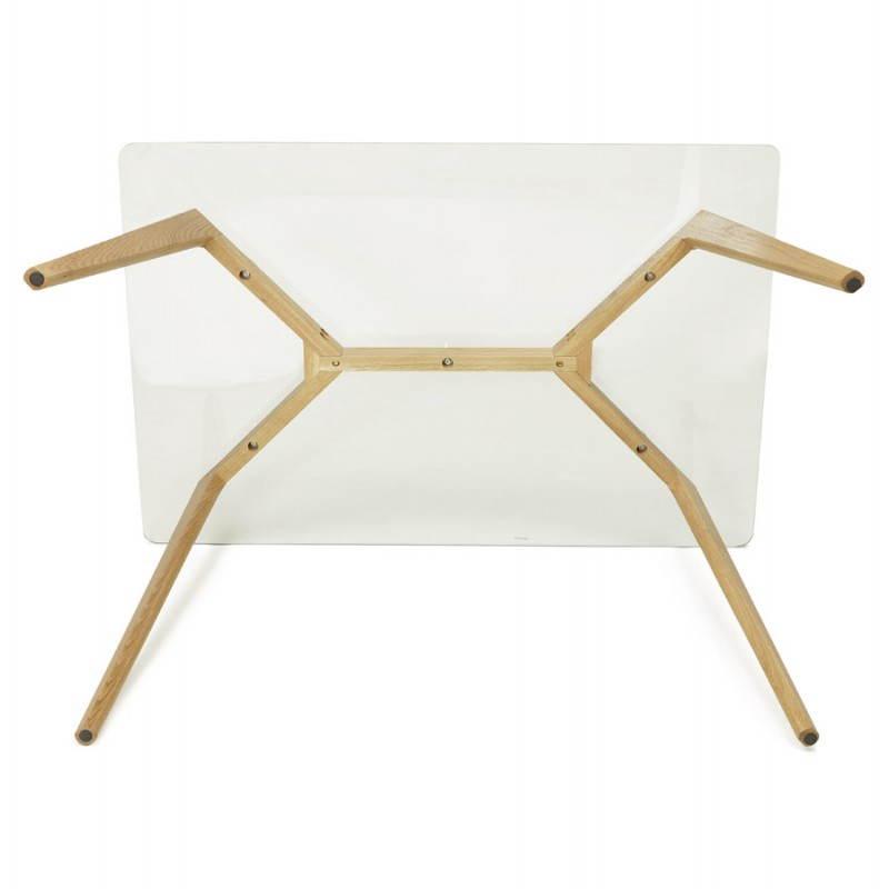 table manger style scandinave rectangulaire varin en verre. Black Bedroom Furniture Sets. Home Design Ideas