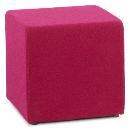 Pouf quadrato BARILLA in tessuto (fucsia)