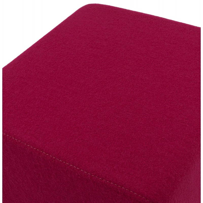 Pouf carré BARILLA en tissu (fushia) - image 25793