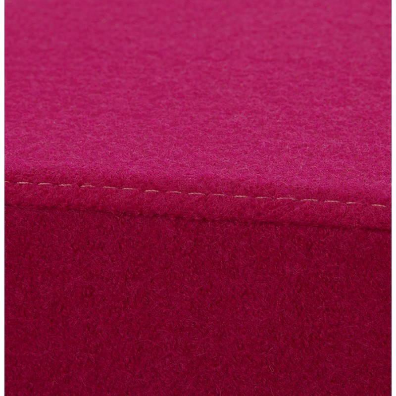Pouf carré BARILLA en tissu (fushia) - image 25795