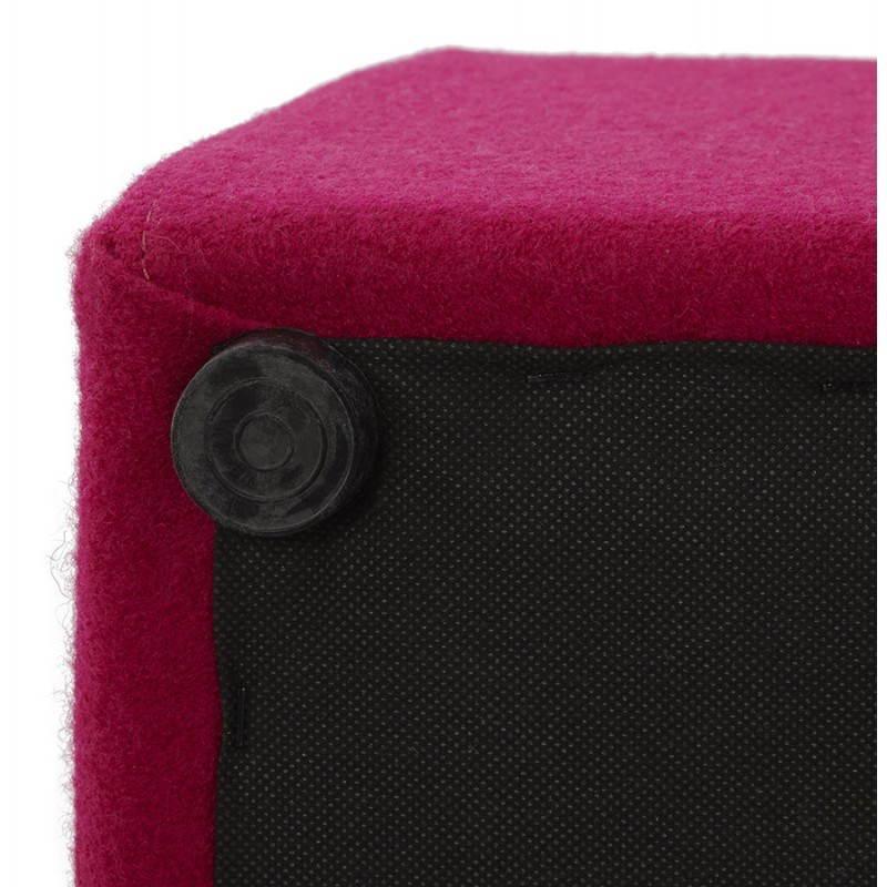 Pouf carré BARILLA en tissu (fushia) - image 25799