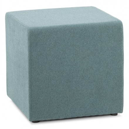 Pouf square BARILLA (blue) fabric
