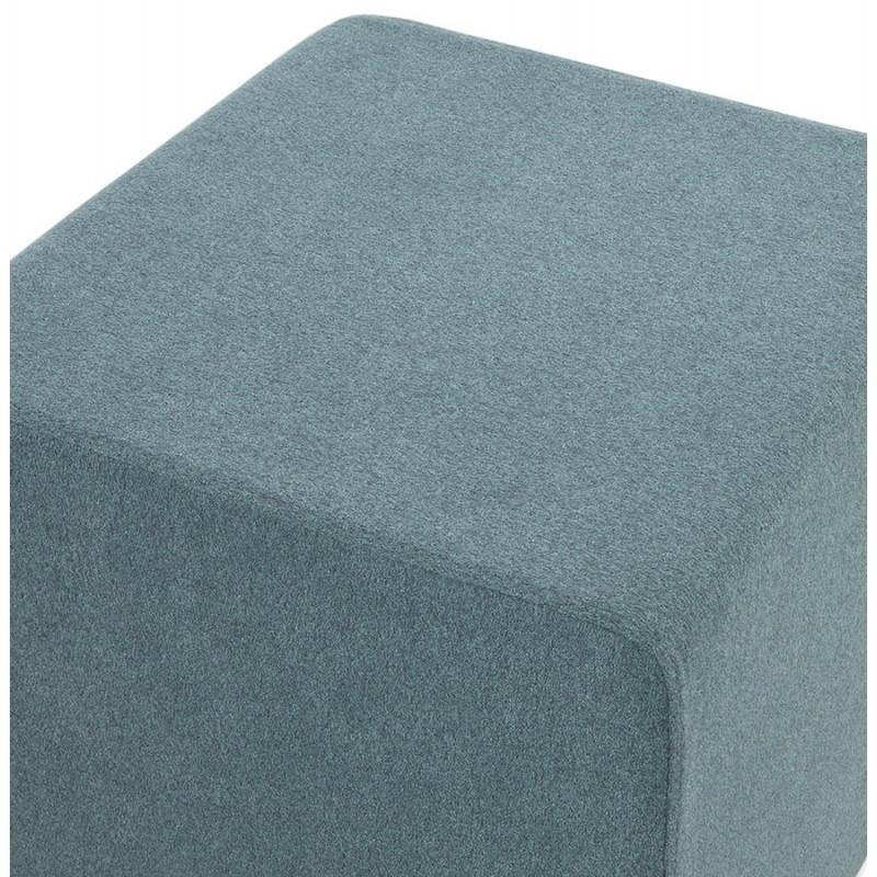 Pouf carré BARILLA en tissu (bleu) - image 25804