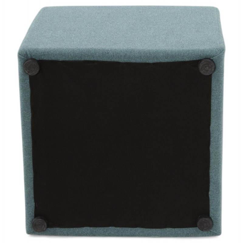 Pouf carré BARILLA en tissu (bleu) - image 25808