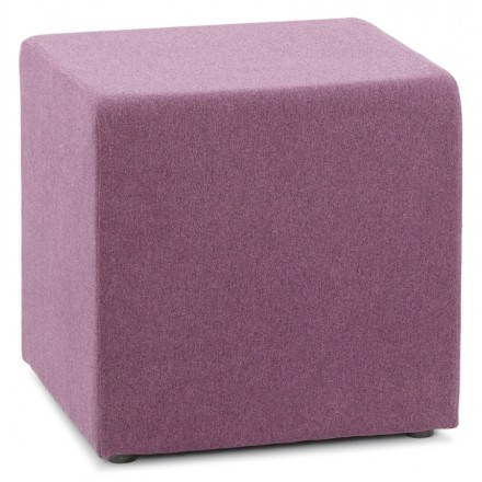 Pouffe square BARILLA fabric (purple)