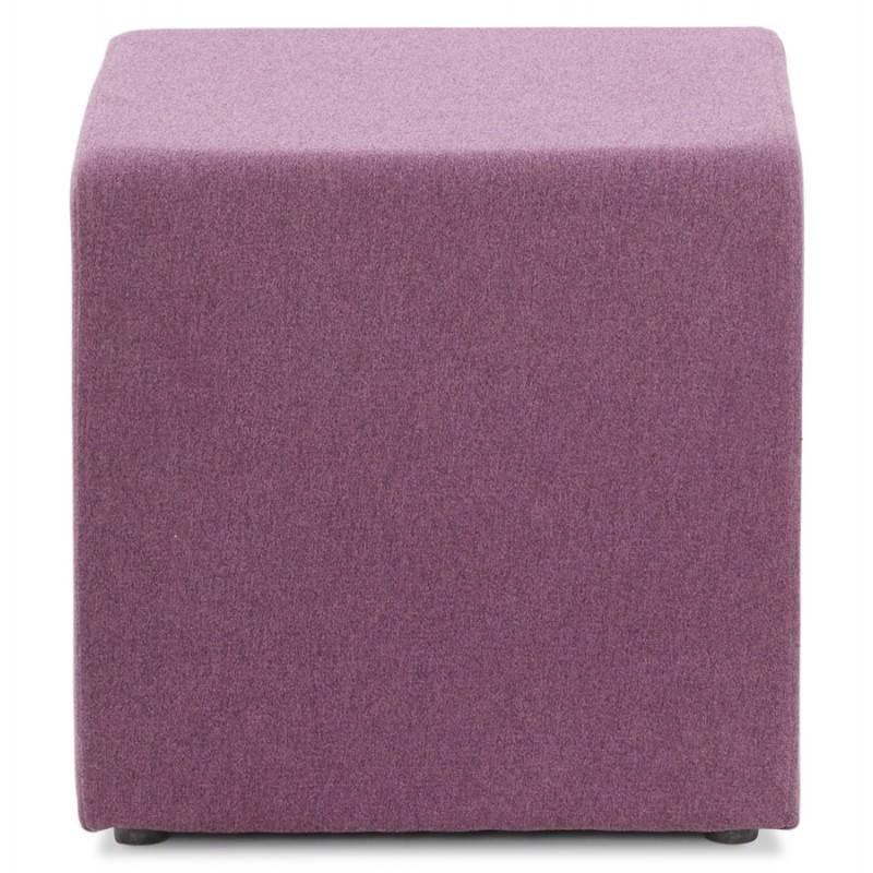 Pouf carré BARILLA en tissu (violet) - image 25811