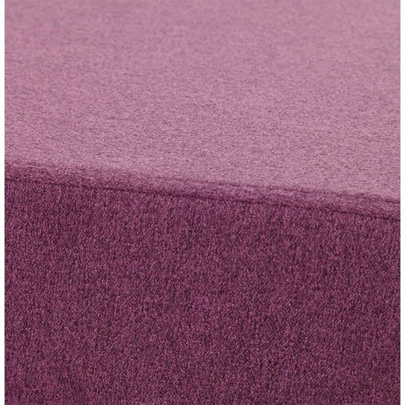 Pouf carré BARILLA en tissu (violet) - image 25816
