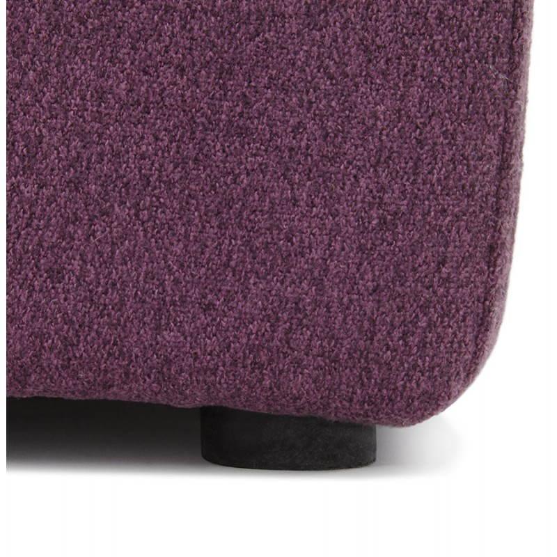 Pouf carré BARILLA en tissu (violet) - image 25821
