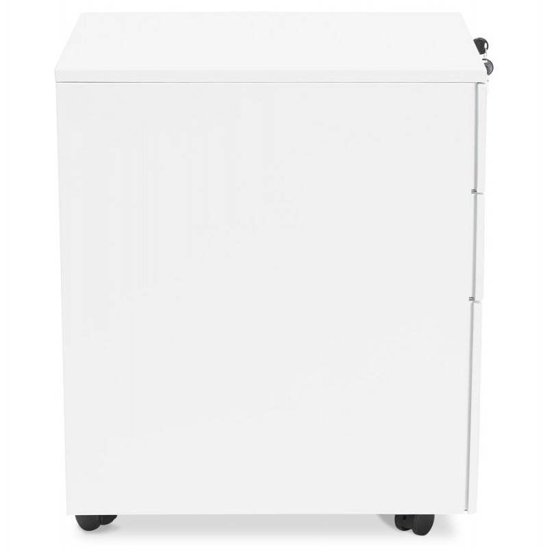 Caisson de bureau design 3 tiroirs MATHIAS en métal (blanc) - image 25931