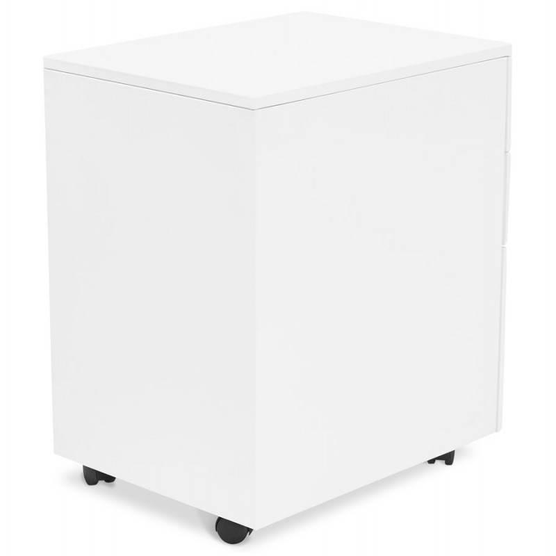 Caisson de bureau design 3 tiroirs MATHIAS en métal (blanc) - image 25932