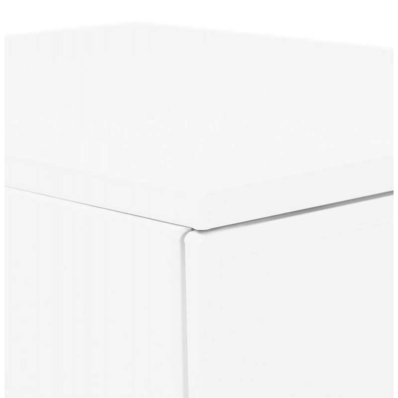 Caisson de bureau design 3 tiroirs MATHIAS en métal (blanc) - image 25939