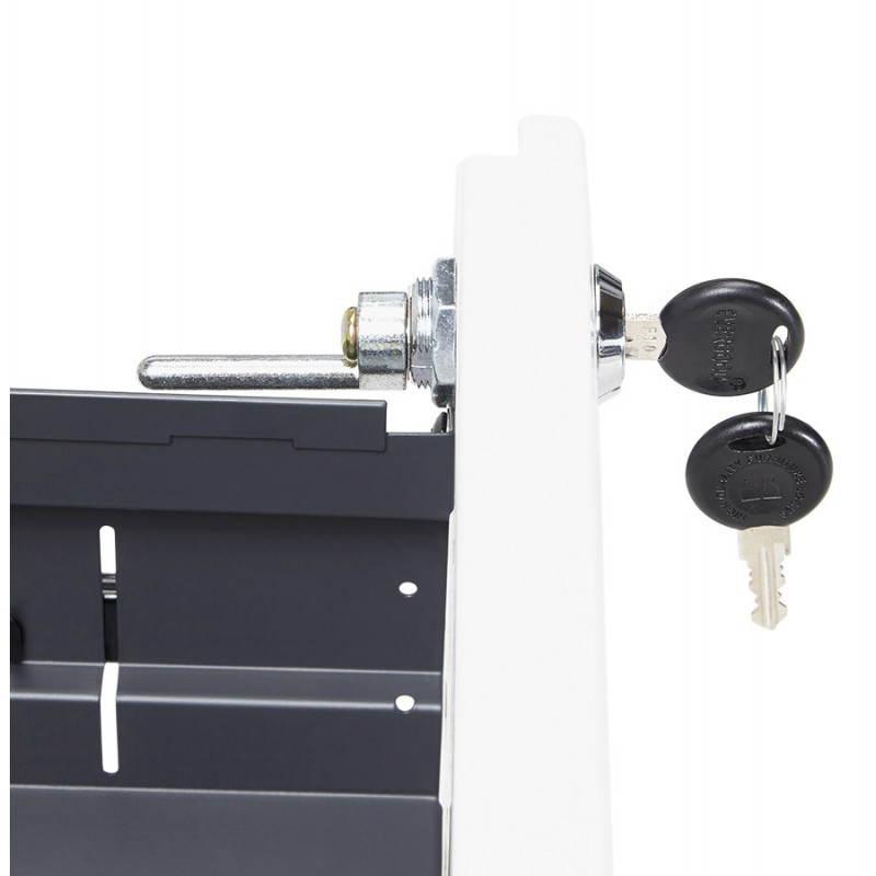 Caisson de bureau design 3 tiroirs MATHIAS en métal (blanc) - image 25941