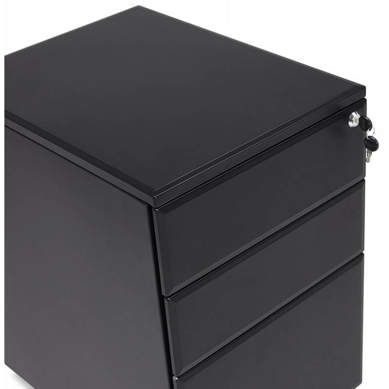 Subwoofer design desk 3 drawers MATHIAS (black) metal - image 25954