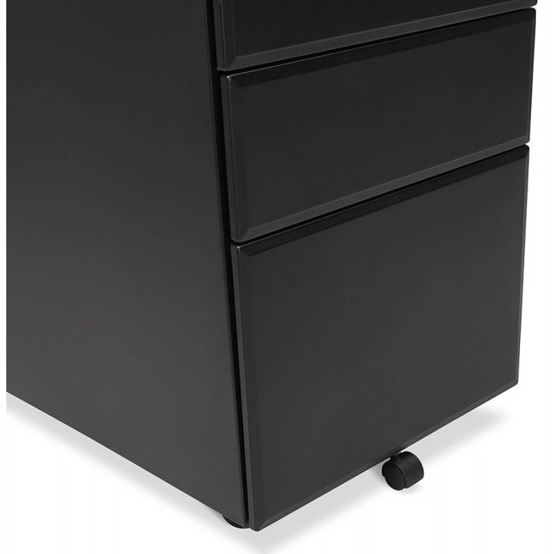 Subwoofer design desk 3 drawers MATHIAS (black) metal - image 25959