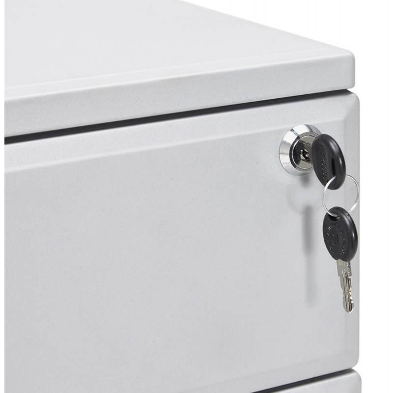 Caisson de bureau design 3 tiroirs MATHIAS en métal (gris) - image 25972
