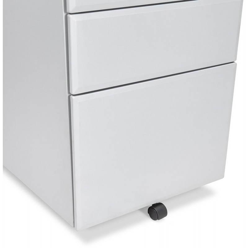 Caisson de bureau design 3 tiroirs MATHIAS en métal (gris) - image 25976
