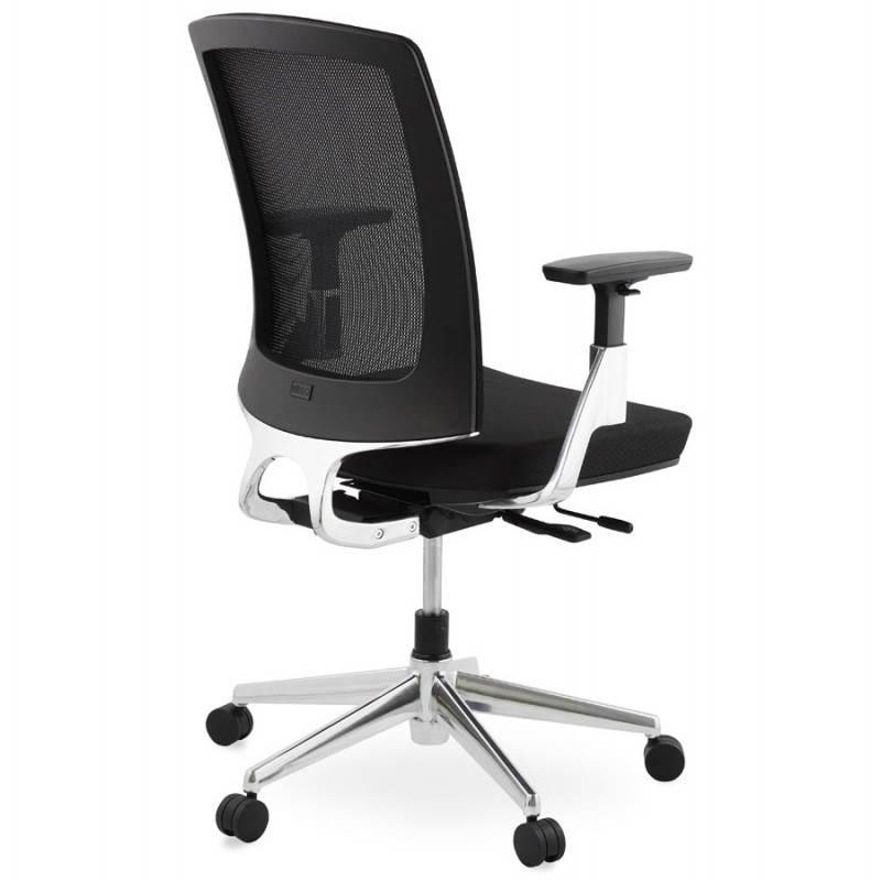Fauteuil de bureau ergonomique LEO en tissu (noir ) - image 25983