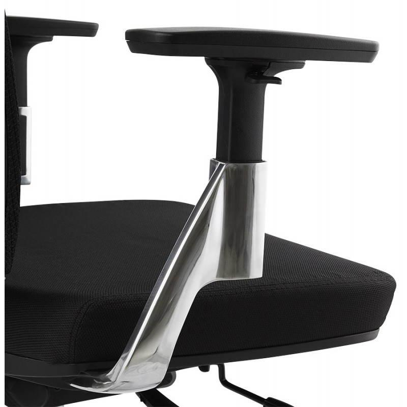 Fauteuil de bureau ergonomique LEO en tissu (noir ) - image 25988